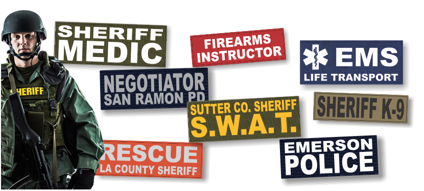 Fast service and low prices on custom made identification patches