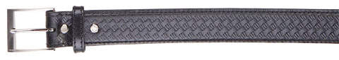 5.11 Leather Garrison Belt - 1.5-inch Black Basketweave - Larger Sizes