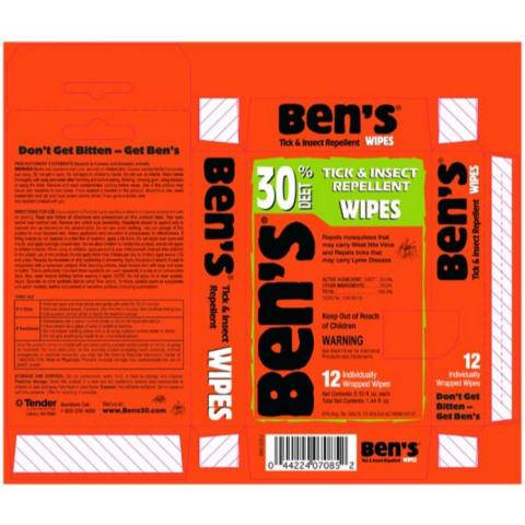 Adventure Medical Kits Ben's 30 Deet Insect Repellent - Wipes, 12 pc.