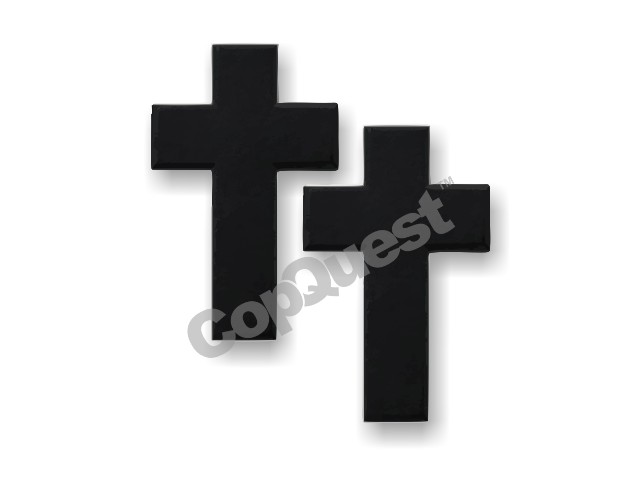 Chaplain Cross - Pair - Tactical Black