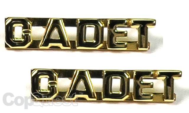 Collar Insignia - 1/4-inch high - Pair - CADET - Gold
