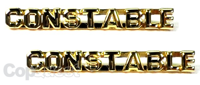 Collar Insignia - 1/4-inch high - Pair - CONSTABLE - Gold