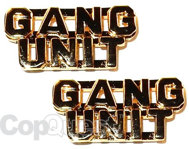 Collar Insignia - 1/4-inch high - Pair - GANG UNIT - Gold