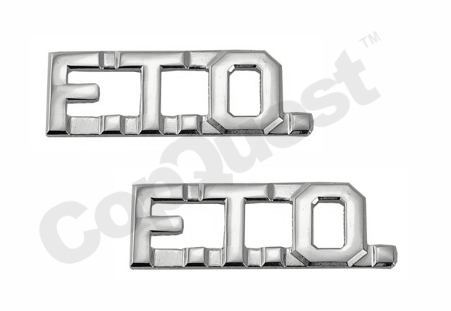 Collar Insignia - 3/8-inch high - Pair - FTO - Nickel