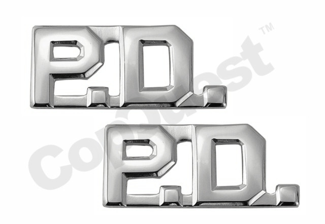 Collar Insignia - 3/8-inch high - Pair - PD - Nickel