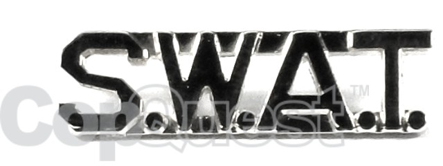 Collar Insignia - 3/8-inch high - Pair - S.W.A.T. - Nickel