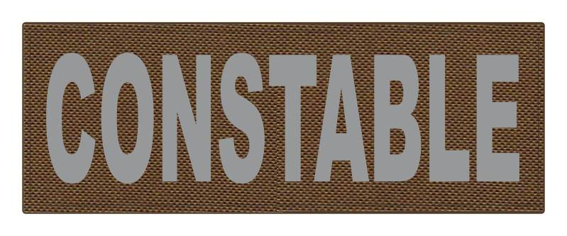 CONSTABLE ID Patch - 11x4 - Gray Lettering - Coyote Backing - Hook Fabric