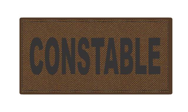 CONSTABLE ID Patch - 4x2 - Black Lettering - Coyote Backing - Hook Fabric