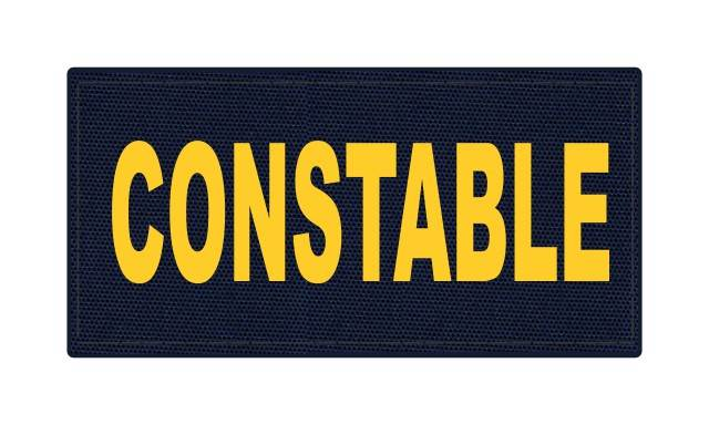 CONSTABLE ID Patch - 4x2 - Gold Lettering - Navy Backing - Hook Fabric