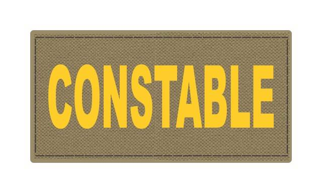 CONSTABLE ID Patch - 4x2 - Gold Lettering - Tan Backing - Hook Fabric