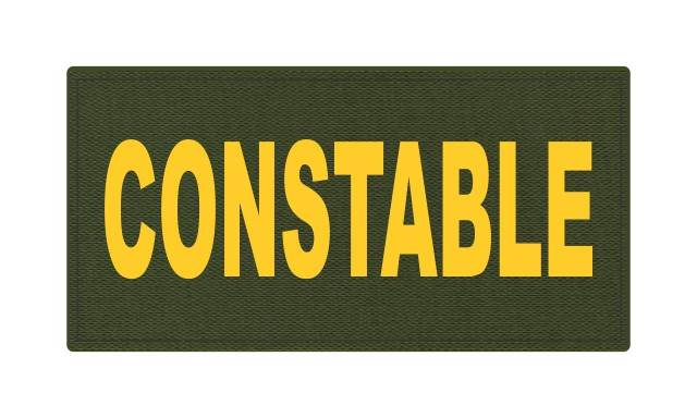 CONSTABLE ID Patch - 4x2 - Gold Lettering - OD Green Backing - Hook Fabric