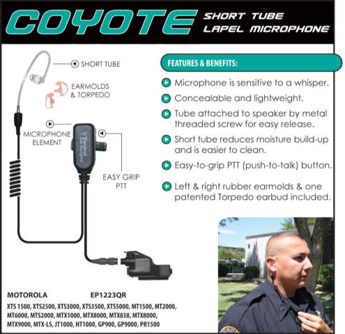 Coyote Lapel Microphone - Hardwired