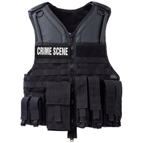 Crime Scene Vest - Complete w/Pouches and ID patches