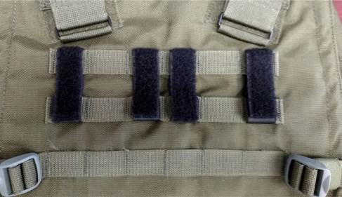 Del Molle Strips for Attaching Tactical ID Patches - for 3-inch high patches - 4-count
