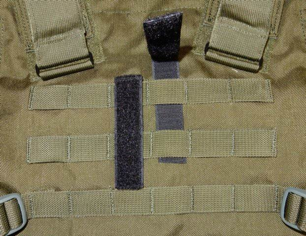 Del Molle Strips for Attaching Tactical ID Patches - for 4-inch high patches - 4-count
