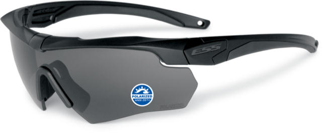 ESS Crossbow Polar ONE, Black frame with a high-impact Polarized Gray lens