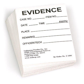 Evidence Labels - 100 pack