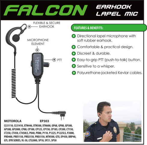 Falcon Lapel Microphone - Hardwired