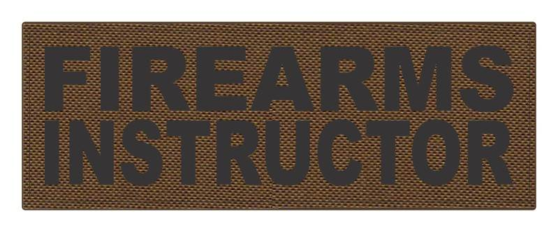 FIREARMS INSTRUCTOR - 11x4 - Black Lettering - Coyote Backing - Hook Fabric