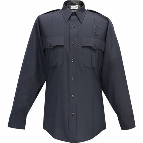 Flying Cross Uniform L/S Shirt, 75/25 Poly/Wool Premium Blend - Men's