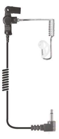 Fox Listen Only Earpiece - 6 inch Coil Cable