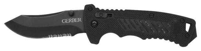 Gerber DMF Folder Knife, Modified Clip Point - Serrated Blade