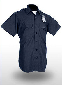 LAPD Womens S/S Shirt - 10oz 100% Worsted Wool - Hidden Zipper