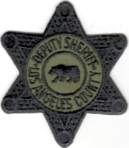 Los Angeles County Sheriff Department - Deputy Sheriff - Subdued Star Badge Patch