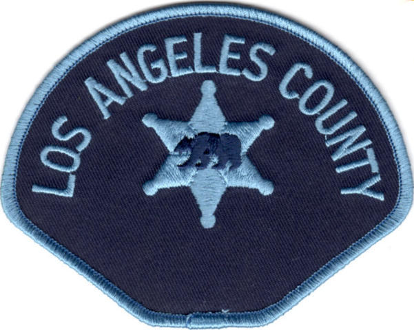 Los Angeles County Sheriff Department - Shoulder Patch - Civillian Blue/Blue - Pair