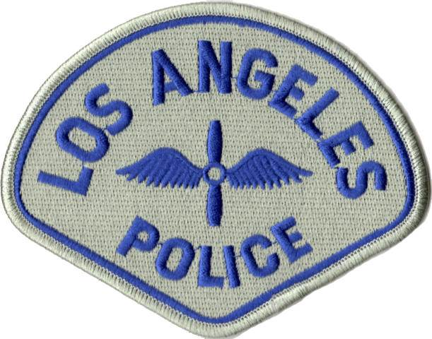 Los Angeles Police Department - Heli Command Patch - Pair