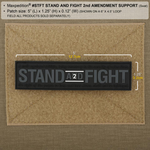 Maxpedition Stand and Fight 2nd Amendment Support Patch - SWAT