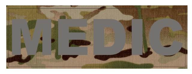 MEDIC Patch - 8.5x3.0 - Gray Lettering - Multicam Backing - Hook Fabric