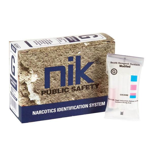 NIK Narcotic Test Kits - Test G: Cocaine, Crack, Free-Base