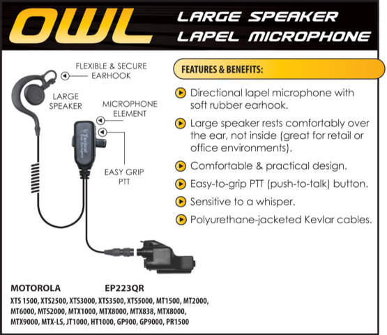 Owl Lapel Microphone - Quick Release