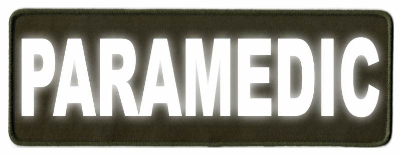 PARAMEDIC ID Patch - 11x4 - Reflective Lettering - OD Green Twill Backing