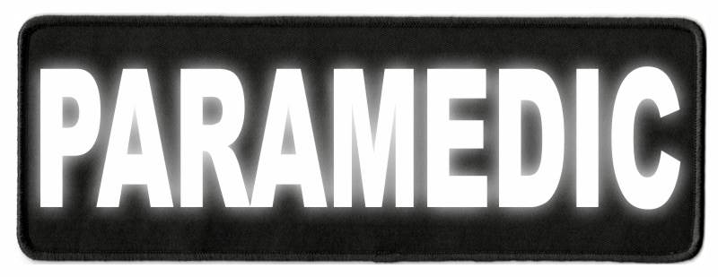 PARAMEDIC ID Patch - 11x4 - Reflective Lettering - Black Twill Backing