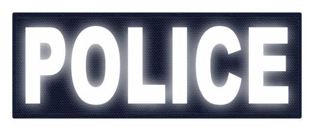 Reflective police back patch gold