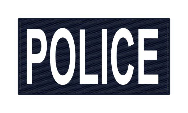 POLICE ID Patch - 4x2 - White Lettering - Navy Backing - Hook Fabric