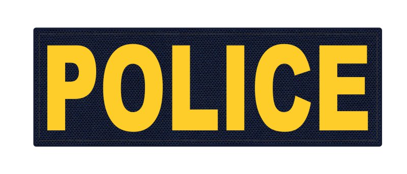 POLICE ID Patch - 6x2 - Gold Lettering - Navy Backing - Hook Fabric