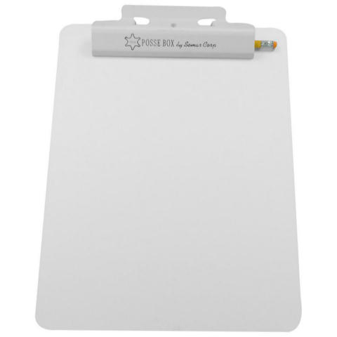 Posse Box LR-125 Flat Aluminum Clipboard