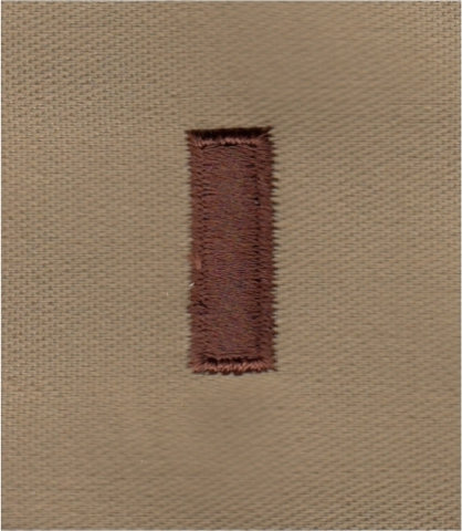Rank Insignia - Cloth Sew On - Pair - Air Force 2nd Lt. - Desert