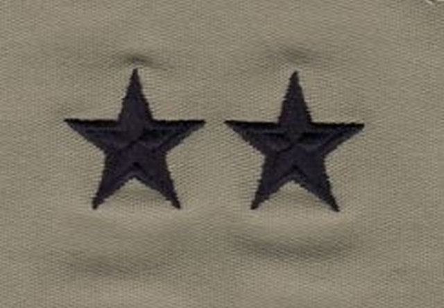 Rank Insignia - Cloth Sew On - Pair - Air Force Major General - ABU