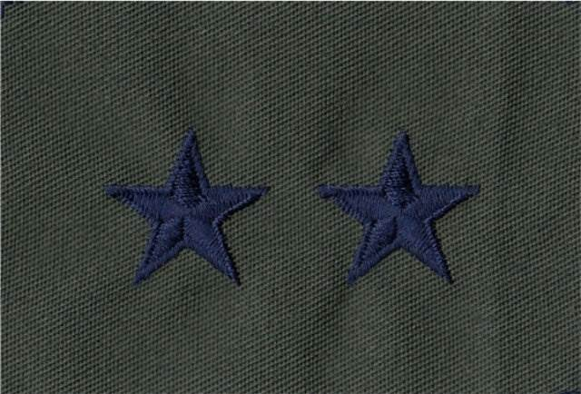 Rank Insignia - Cloth Sew On - Pair - Air Force Major General - Subdued