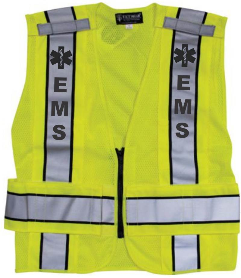 Reflective Traffic Safety Vest - EMS - ANSI 207-2006 Compliant