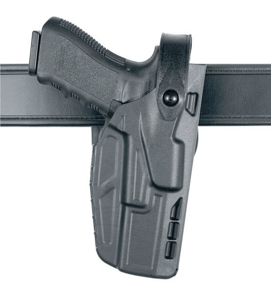 Safariland 7TS 7280 SLS Level II Mid-Ride Duty Holster - Basketweave