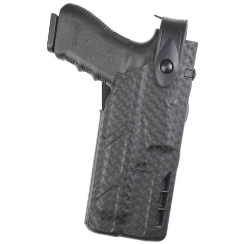 Safariland 7TS 7360 ALS/SLS Level III Mid-Ride Duty Holster - Tac Light - Basketweave