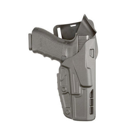 Safariland 7TS 7390 ALS Level I Mid-Ride Duty Holster - Tac Light - Basketweave
