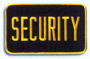 SECURITY Back Patch - Large 9 x 5