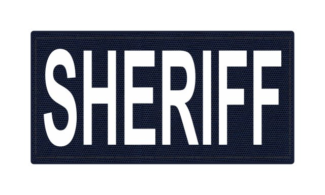 SHERIFF ID Patch - 4x2 - White Lettering - Navy Backing - Hook Fabric