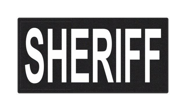 SHERIFF ID Patch - 4x2 - White Lettering - Black Backing - Hook Fabric